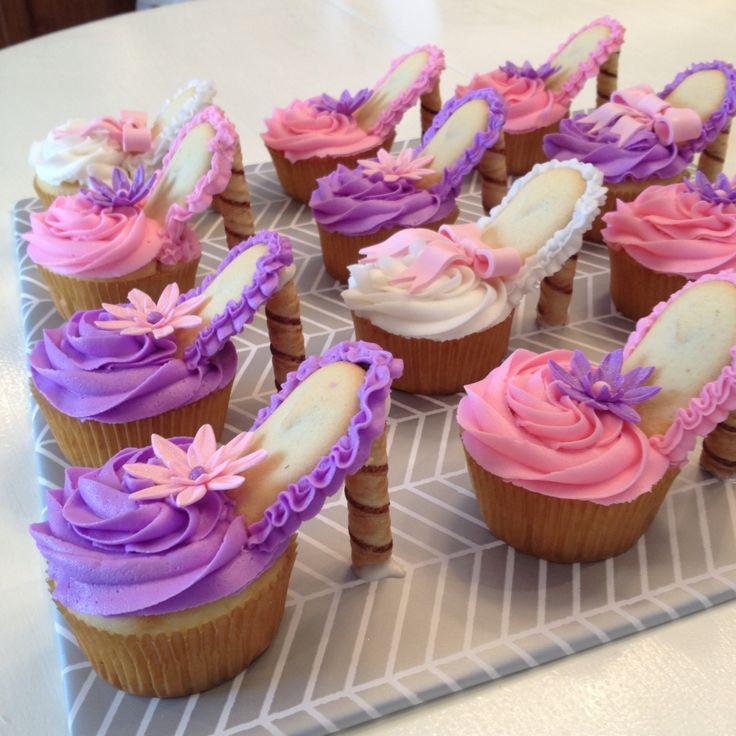 Cute high heel cupcakes
