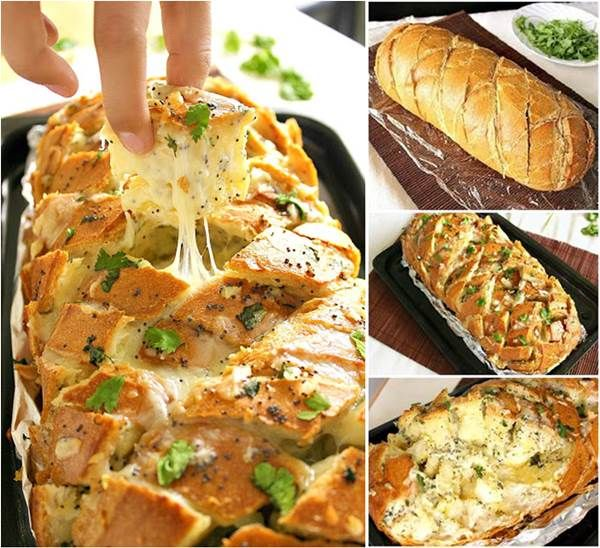 ou won't be able to wait to make this Stuffed Cheesy Bread and it is beyond delicious! #diy #food #recipe #bread