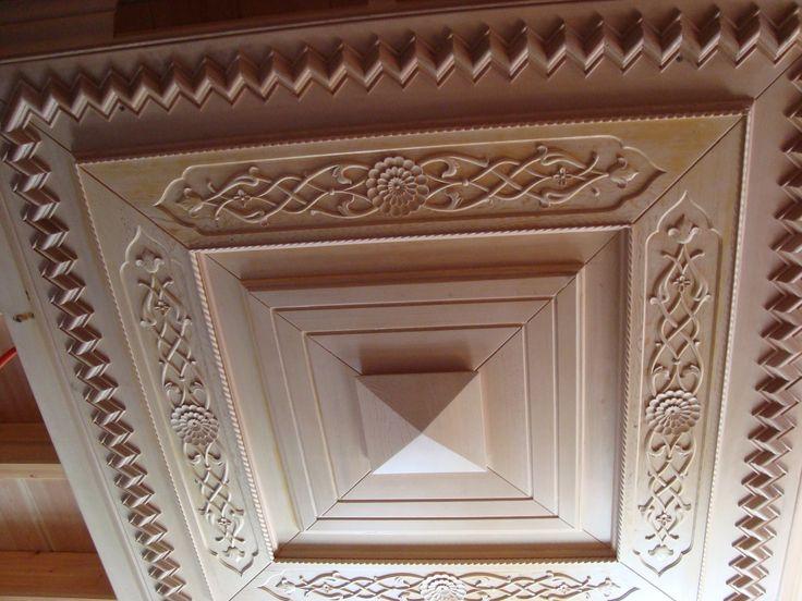 oymalı ahşap tavan göbeği