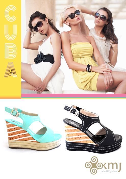 It's all about the wedge. Light weight & effortless style. Cuba is available in classic black & must have mint.  www.kmjshoes.com.au
