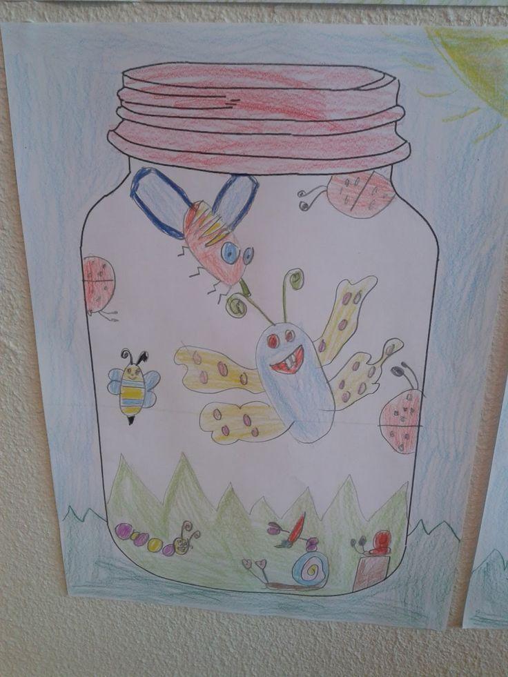 Ik heb deze (super leuke!) tekenopdracht uitgevoerd met groep 3&4! Ik heb de leerlingen verteld dat ze 'op jacht' gingen naar insecten. Op internet had ik verschillende downloads gevonden van glazen potten. Ik heb er één afgedrukt en gekopieerd.Via het digibord liet ik dekinderen een voorbeeld zien.Het uiteindelijke resultaat vind ik echt fantastisch! Klik hier …