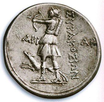 Συρακούσαι, Σικελία. Αργυρό τετράδραχμο 214-212 π.Χ. Διάμετρος 18 χιλιοστά. Νομισματική Συλλογή Alpha Bank