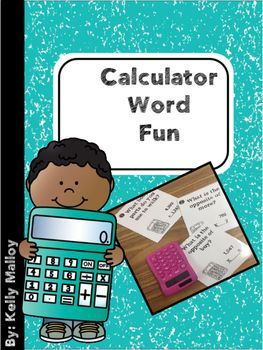 Calculator Word Fun Task Cards These calculator word fun task cards are a fun and engaging way for your students to practice math computation tasks (addition, subtraction, multiplication, and division).  Do you remember typing numbers into a calculator and then flipping it over to see a word? (scheduled via http://www.tailwindapp.com?utm_source=pinterest&utm_medium=twpin&utm_content=post33910074&utm_campaign=scheduler_attribution)