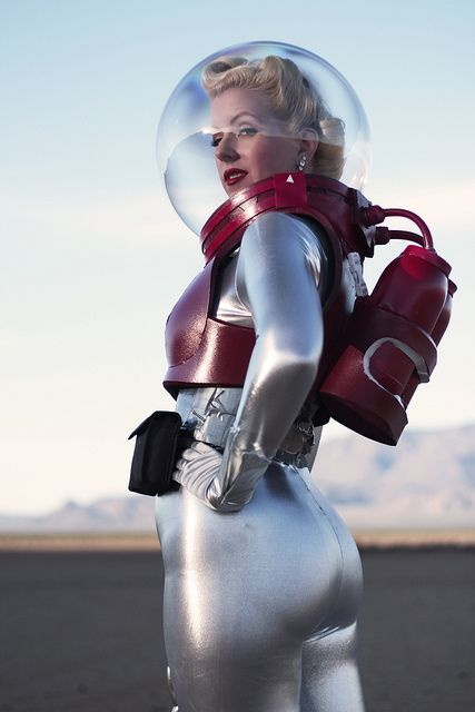 Space Rangers EVA Suit by Atomic Age Pictures. I love girl space suits for the same reason I love girl armor.