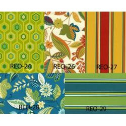 All-weather Square Outdoor Chair Cushions (Set of 4). Colors and patterns that I love.