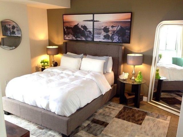 Damon queen upholstered platform bed best jeff lewis for Jeff lewis bedroom designs