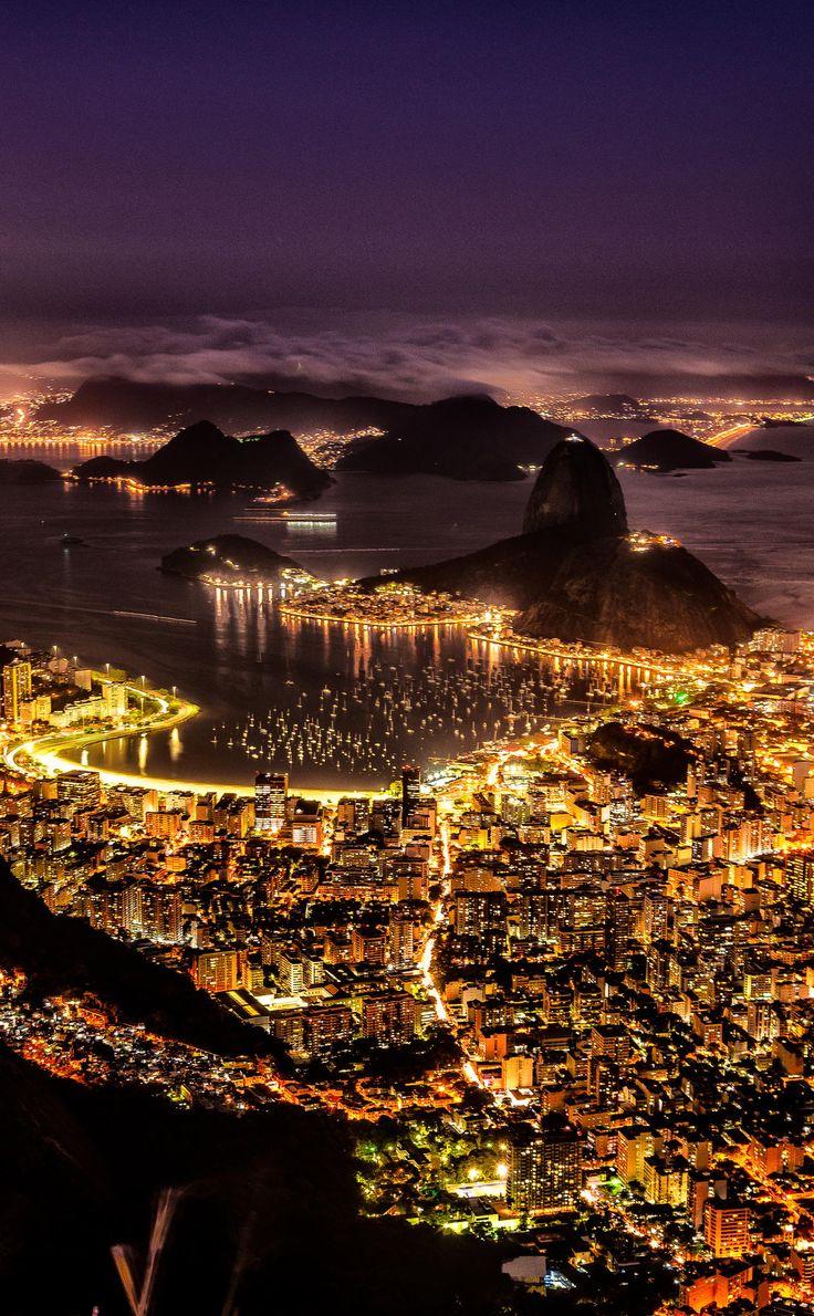 Humaitá, Botafogo and Pão de Açucar ,Brazil,by Magno Lima