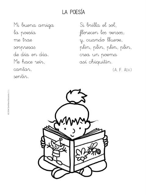 Spanish poem for kids, poesías para educación infantil