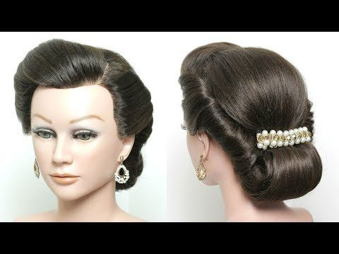 Twist And Pin Updo. Rolled Hairstyle For Long Medium Hair Tutorial – YouTube