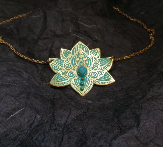 Hey, I found this really awesome Etsy listing at https://www.etsy.com/listing/199812335/lotus-necklace-water-lily-necklace-brass