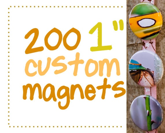 CIJ Sale 200 one inch custom magnets Great by AulaniPhotography, $95.00