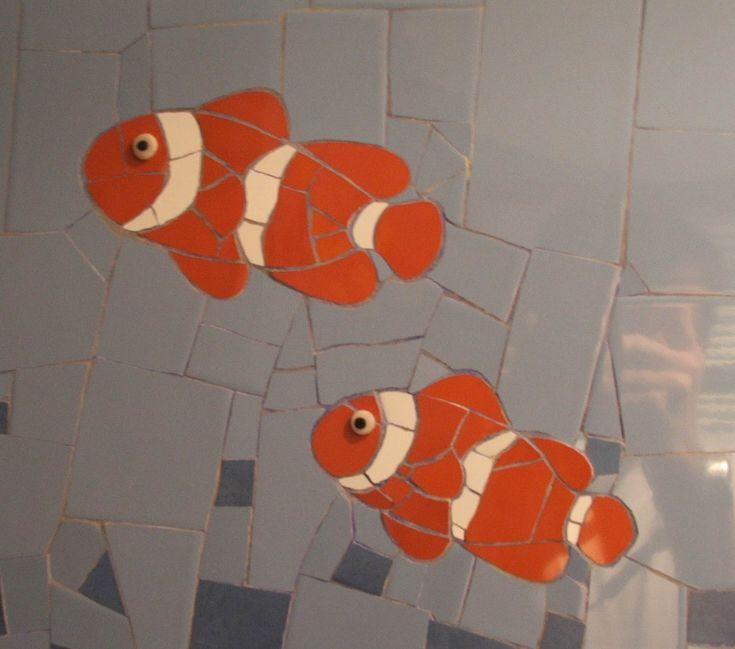1000 best images about mosaico iii on pinterest mosaics for Poisson d argent salle de bain
