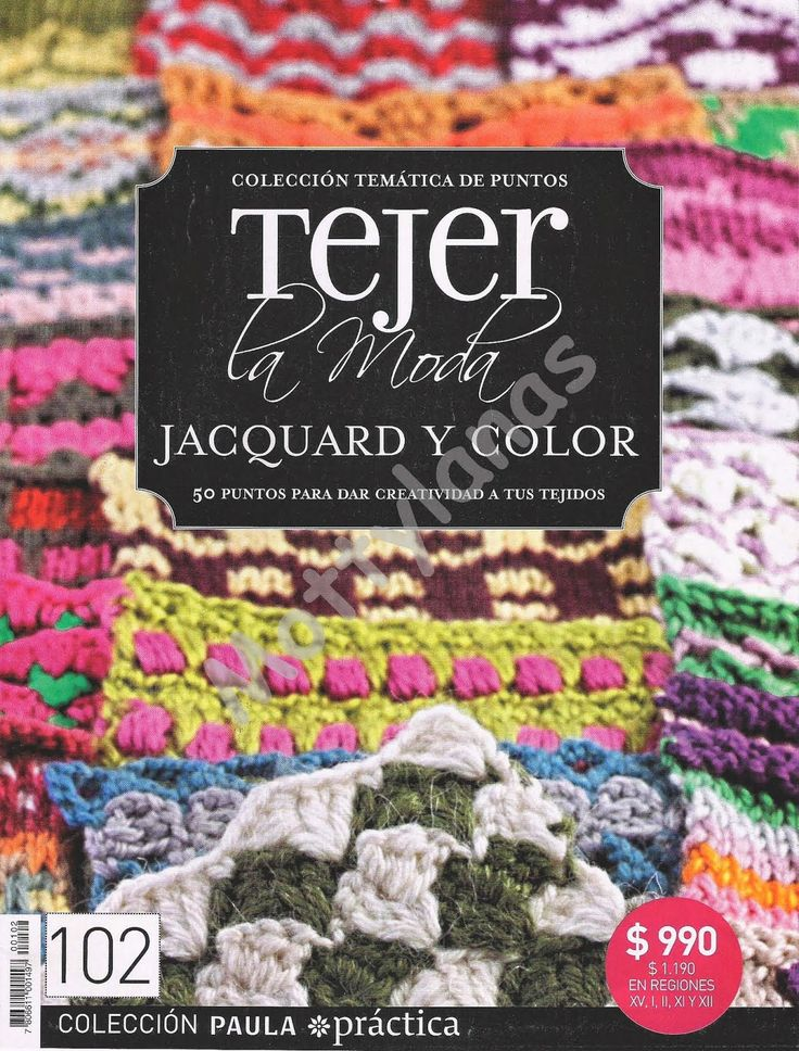 Revistas de manualidades Gratis: Jacquard y color - revista de chochet