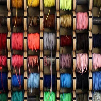 Displaying fabric cable. Nice...