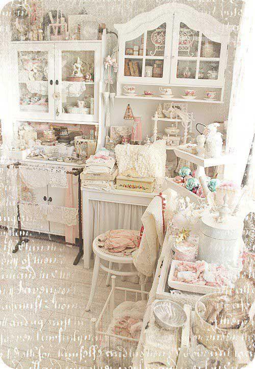 Inspiration inspiration pinterest inredning barnrum for Shabby chic craft room