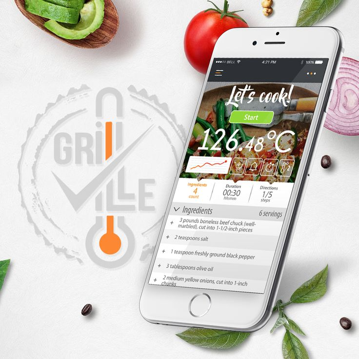 The GrillVille app allows you to create detailed, step-by-step, recipes that you can easily share with others around the world. Users can easily upload pictures of their ingredients, record voice memos detailing their steps to add a little personality, and add temperature thresholds that will alert you when your food is ready. (when used in unison with a Grillville Go, Grillville Elite, or GrillVille EZ probe)