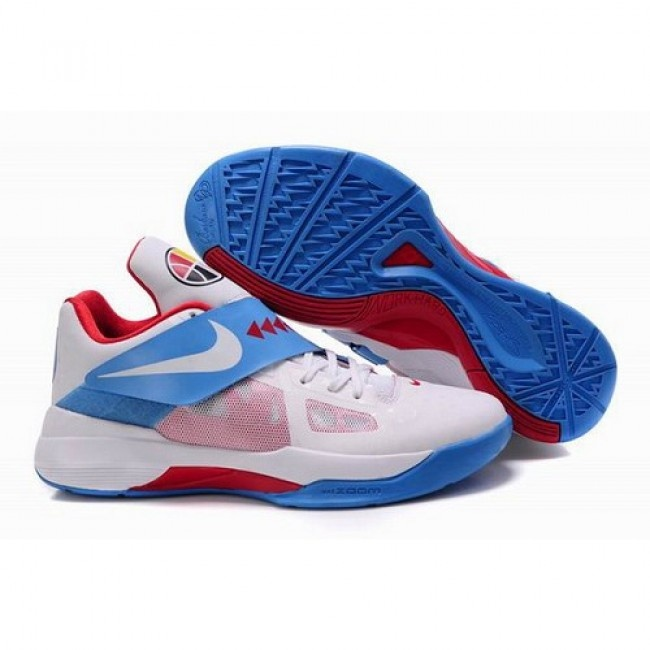 wholesale nike zoom kevin durant new kd iv men blue red white basketball shoes 72.5 http