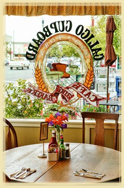 One of my favorite places. If they ever open one here on the east side of WA, I'm applying for a job! Sooo many Sunday memories :)) Calico Cupboard Cafe and Bakery - Anacortes, La Conner and Mount Vernon, Washington--- Carb load!  Gooey Cinnamon rolls!