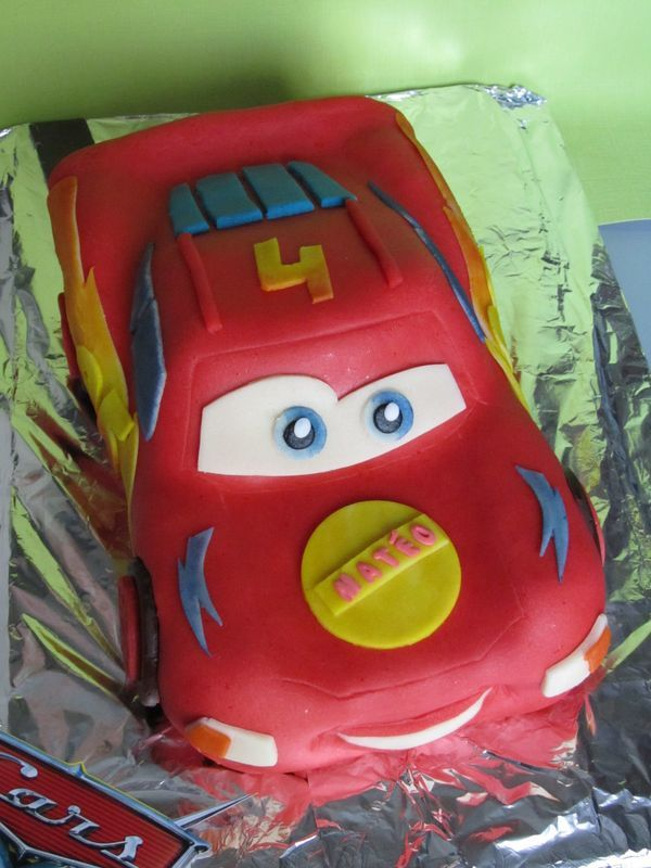 Gâteau Flash McQueen : 2ème version