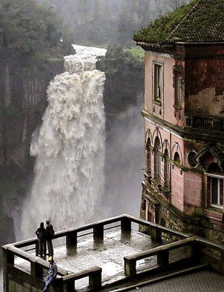 Tequendama Falls: Bogota, Colombia.   Help us visit this beautiful waterfall by donating money to our Trevolta trip here: http://trevolta.com/travels/7-Continents-in-7-Years-10630