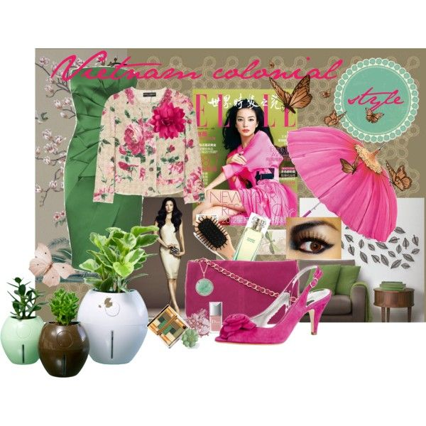 Vietnam colonial style, created by dea-afrodite on Polyvore