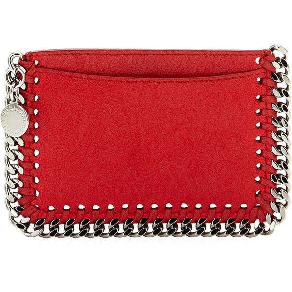 Stella McCartney Falabella Shaggy Deer Card Holder (1.745 DKK) ❤ liked on Polyvore featuring bags, wallets, red, disc bag, card case wallet, credit card holder wallet, stella mccartney bag and stella mccartney wallet