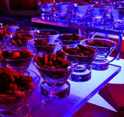 Personal #snack bowls. #events #bigtopcelebration #nuts #creative #food choices #eventfood #brightideas #circus #bigtop #eventlighting