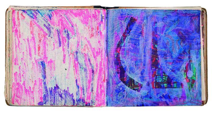 Yiğit Yazıcı colored art Sketch Book 1990-1992
