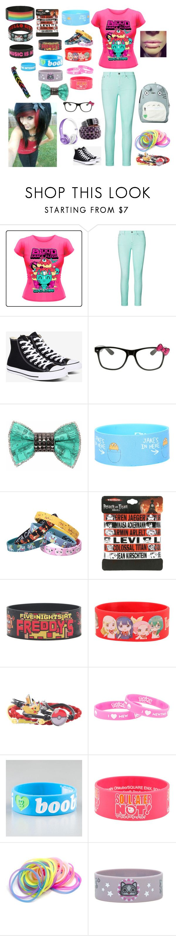 """scene"" by littleghostlygirl004 ❤ liked on Polyvore featuring Ralph Lauren, Converse, Hello Kitty, Bijoux de Famille, Hot Topic, Nintendo and Keep A Breast"
