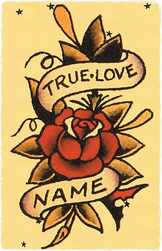11 x 17 vrai amour bannière enroulé autour par DocNSonApothecaryETC