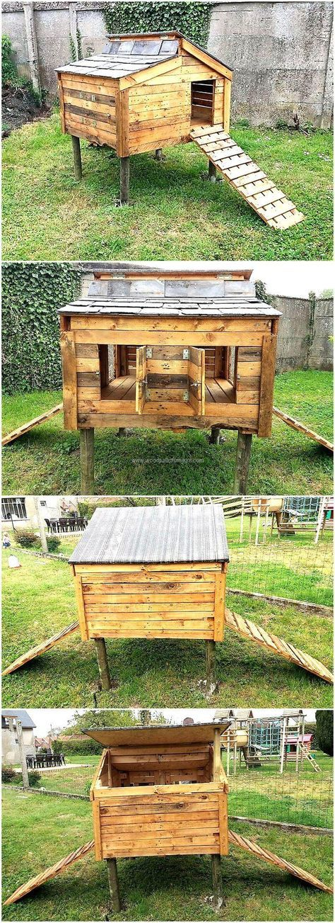 50 best images about chickens on pinterest mobile for Wood pallet chicken coop