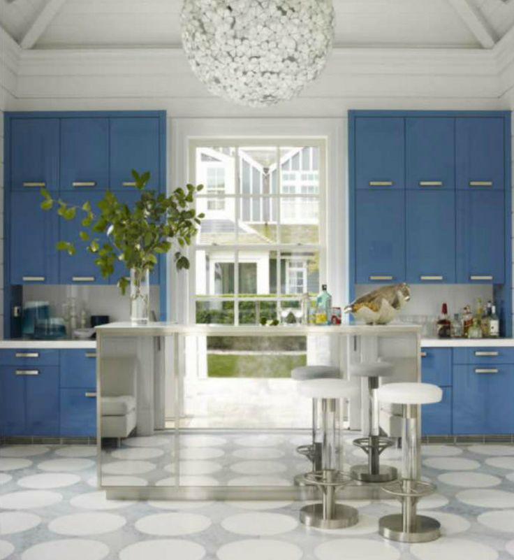 Gorgeous blue cabinets Designers Timothy Haynes