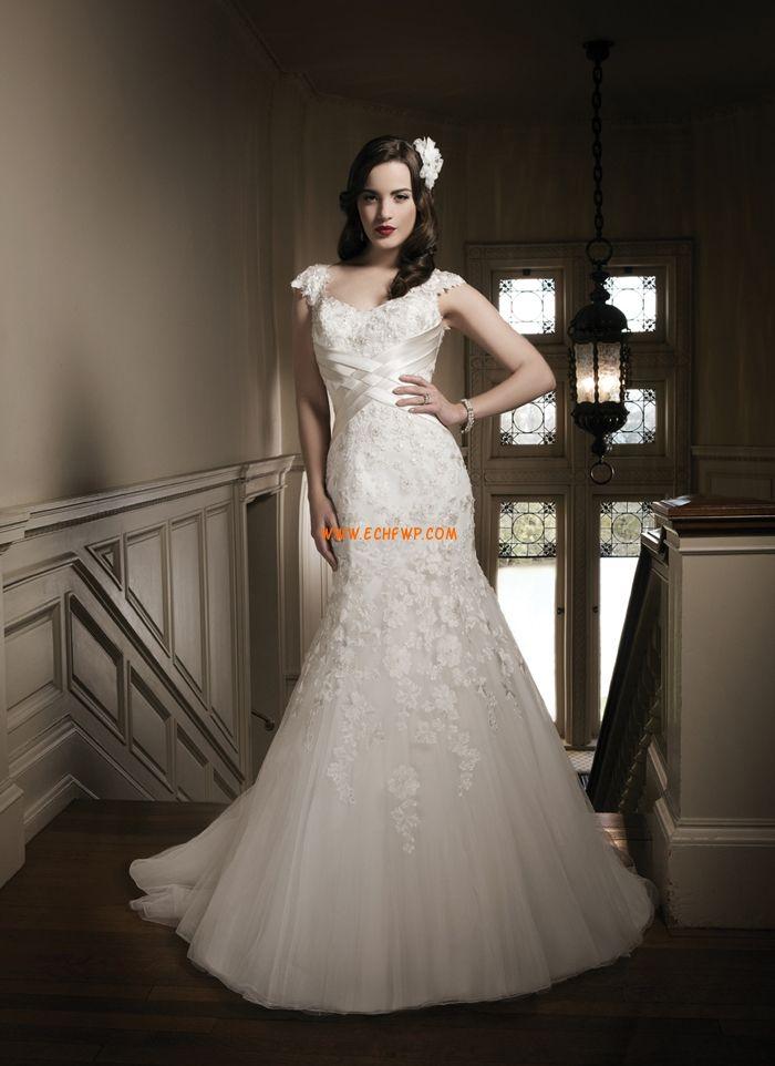 Sablier Automne Manche courte Robes de mariée de luxe