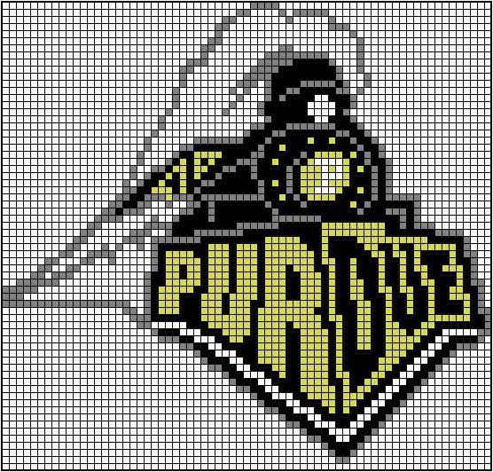 Old (more awesome) Purdue Logo Crochet Grid