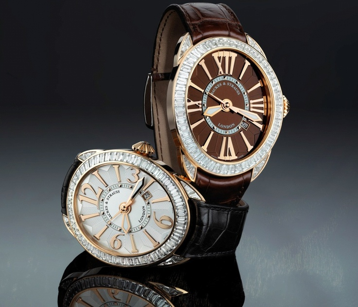 Regent Baguette collection - White and chocolate dial versions - Discover more on wwwbackesandstrauss.com