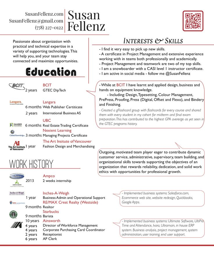 113 best Resume images on Pinterest Resume, Resume design and - resume for barista