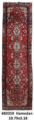 Rugs Sale Cheap Hand Knotted Rug 3x11 Persian Hamadan Runner