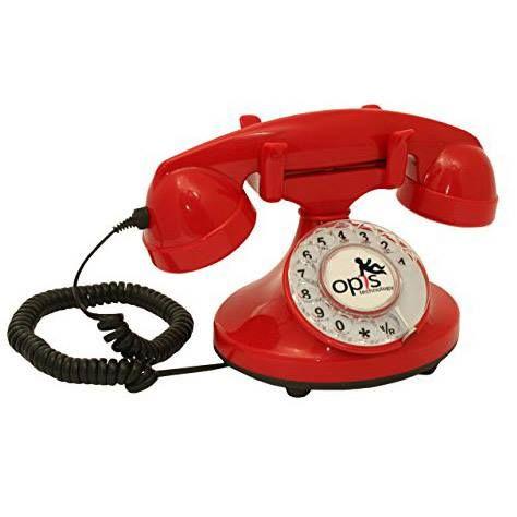 Teléfono vintage rojo (Disponible también en otros colores) http://www.milideaspararegalar.es/producto/telefono-vintage-rojo/