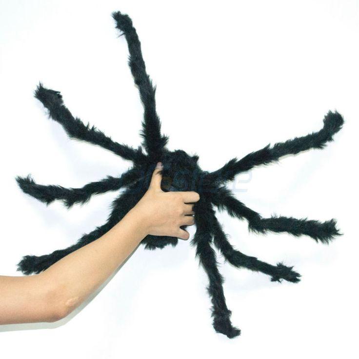 groot formaat zwart zacht pluche spin grappig speelgoed eng rode ogen voor halloween decoratie party in functie:100% gloednieuw en goede kwaliteitmateriaal: pluchezwarte speelgoed spin, geweldige gadget voor halloween decora van grappen grappen en praktische op AliExpress.com   Alibaba Groep