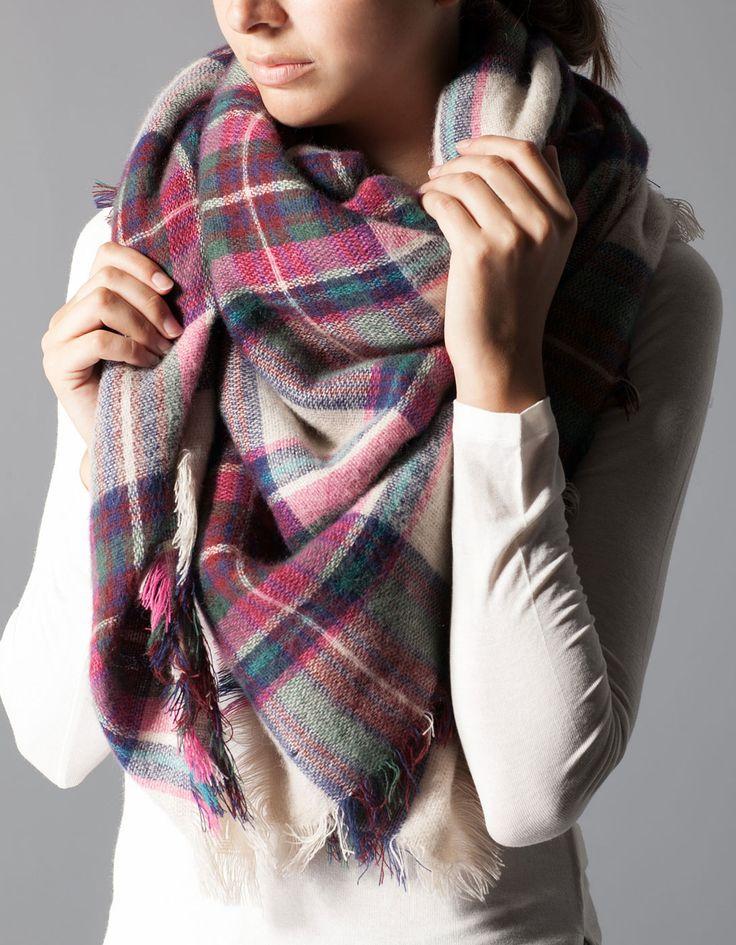 plaid scarf stradivarious €12.95