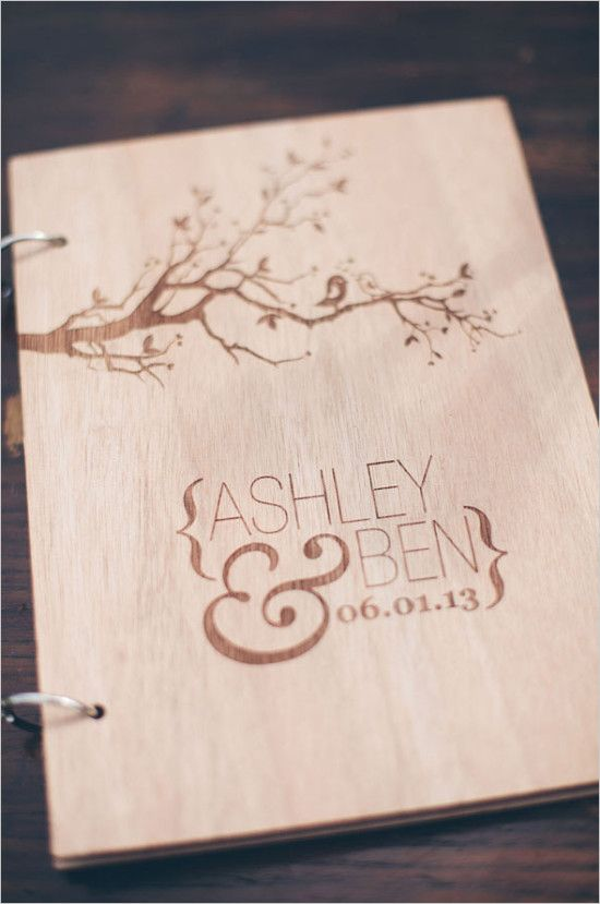 Custom wooden guestbook idea. #weddingceremony #guestbook #weddingchicks Captured By: Studio127 Photography ---> http://www.weddingchicks.com/2014/04/29/a-wedding-cake-dilemma/