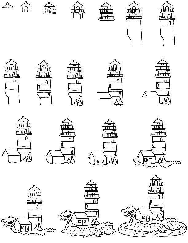 lighthouse keepers lunch coloring pages - photo#29