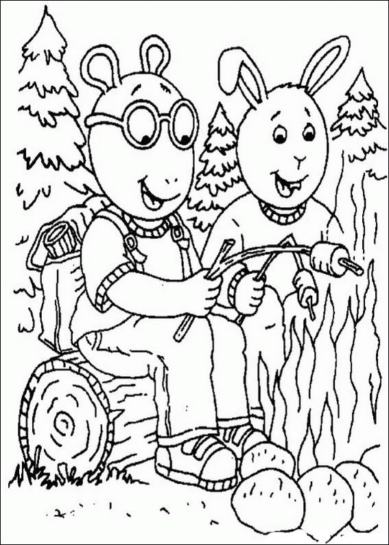 Arthur Was Grilling Sausage Coloring Pages For Kids Printable