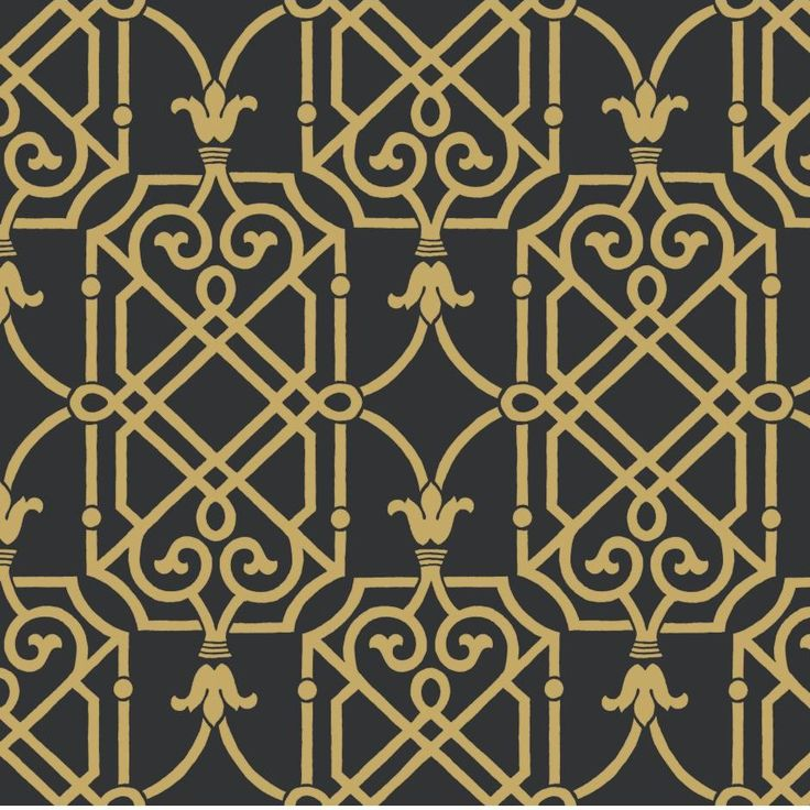 "York Wallcoverings 27' x 27"" Geometric Lattice Wallpaper & Reviews 