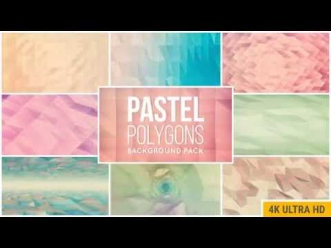 Pastel Polygons Background Pack