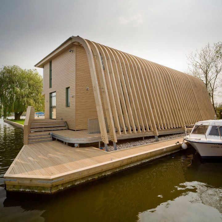 Timber Boathouse And House Project By LSI Architects Norfolk.