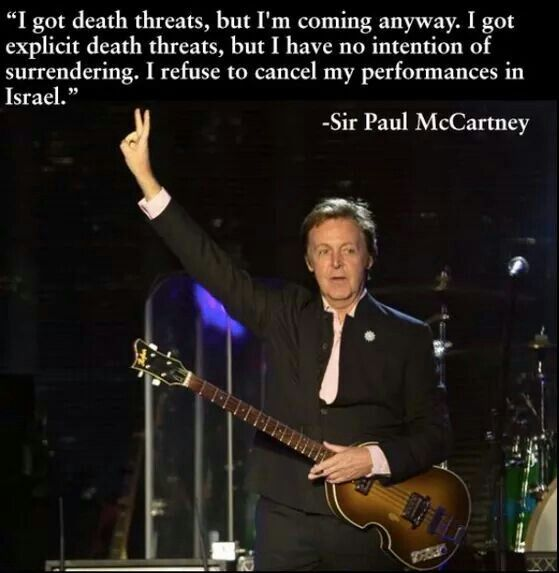 Paul McCartney supporting Israel