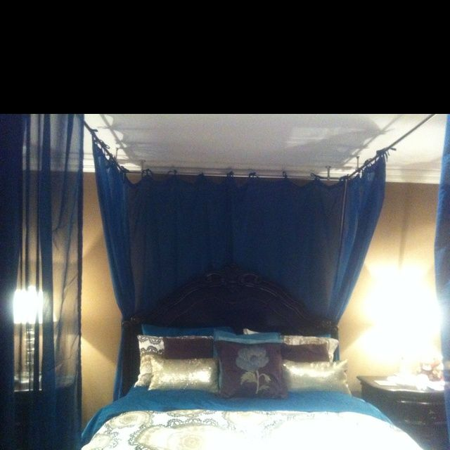 Homemade Bed Canopy | heart our homemade canopy bed :) | Home