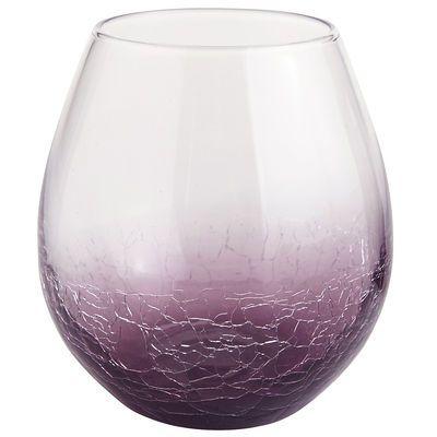 Purple Crackle Stemless Wine