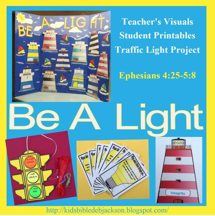 Be a Light (lighthouse) for Jesus with teacher's visuals, crafts & printables!